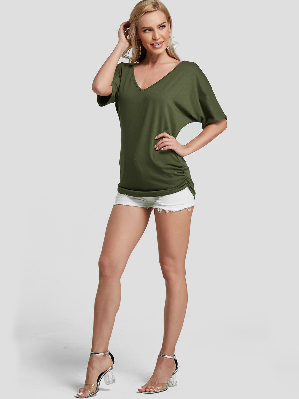 Womens Army Green T-Shirts