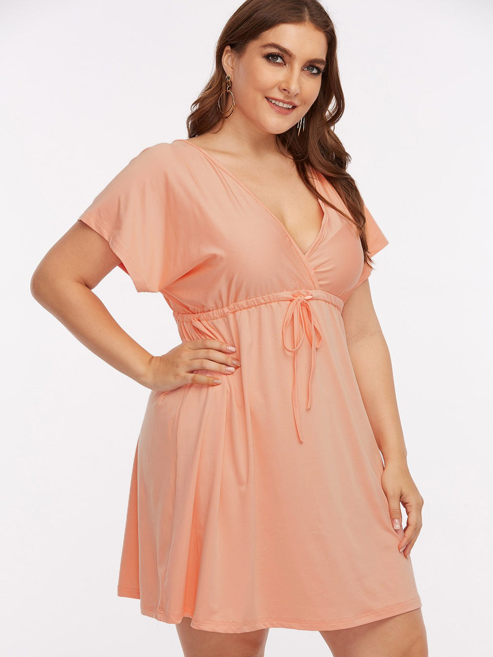 Ladies Light Pink Plus Size Dresses