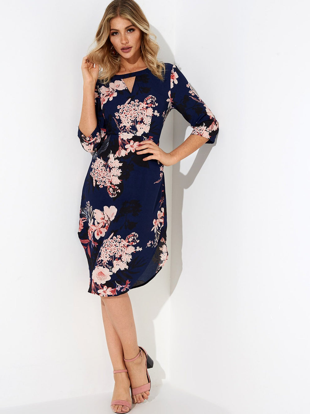 Ladies 3/4 Sleeve Dresses