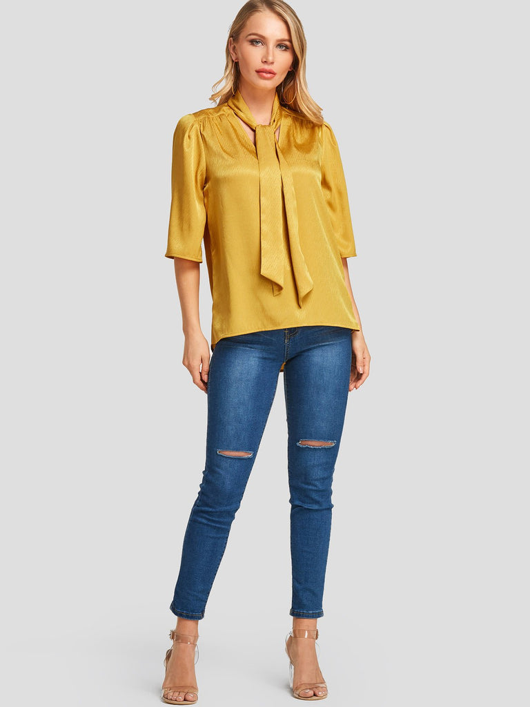 Womens Yellow Blouses