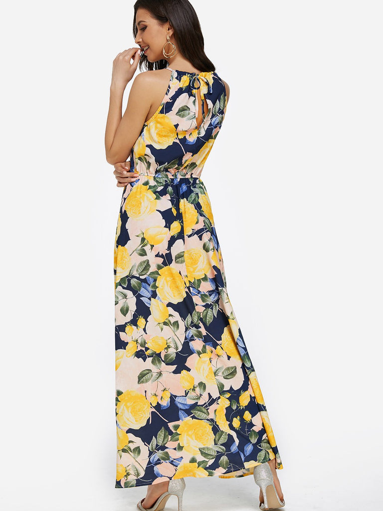 Womens Yellow Maxi Dresses