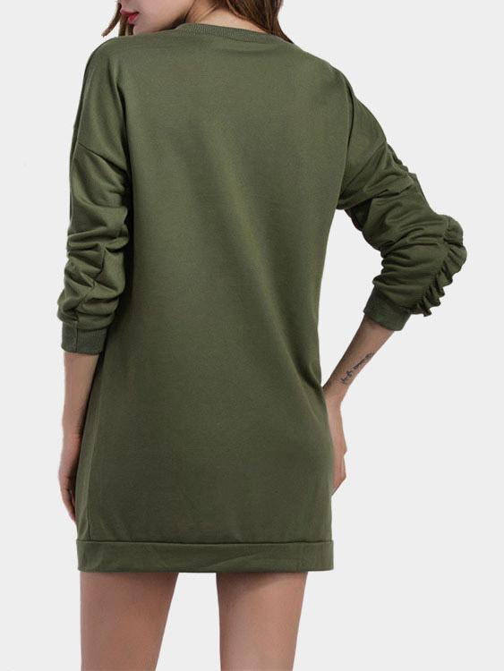 Womens Army Green Sweatshirts