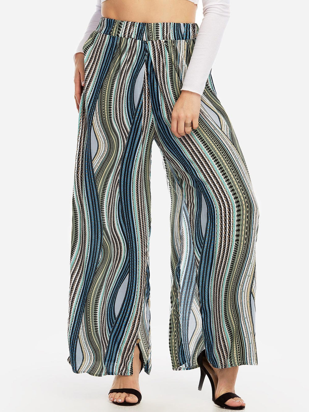 Womens Striped Plus Size Bottoms