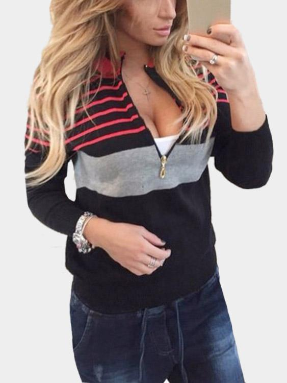 Womens Color Block Sweatshirts