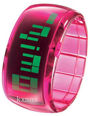Wholesale Swiss Translucent Pink Expansion Polycarbonate Watch Wristband DD101-1_K0042019