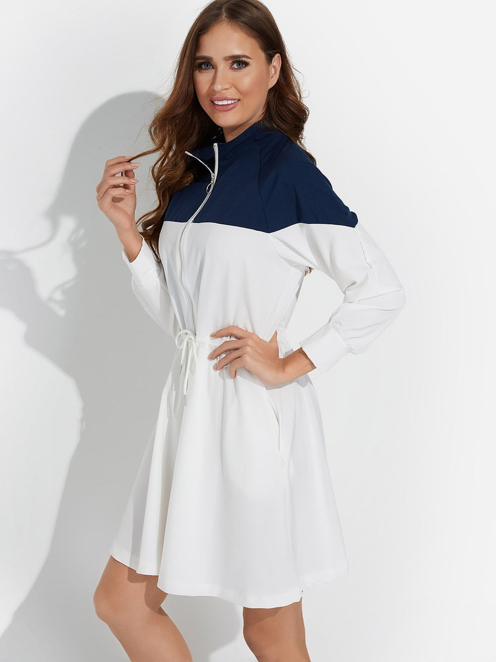 Ladies White Casual Dresses