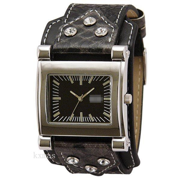 Wholesale Price Online Shopping Synthetic Leather Watch Wristband DG676-BK_K0039092