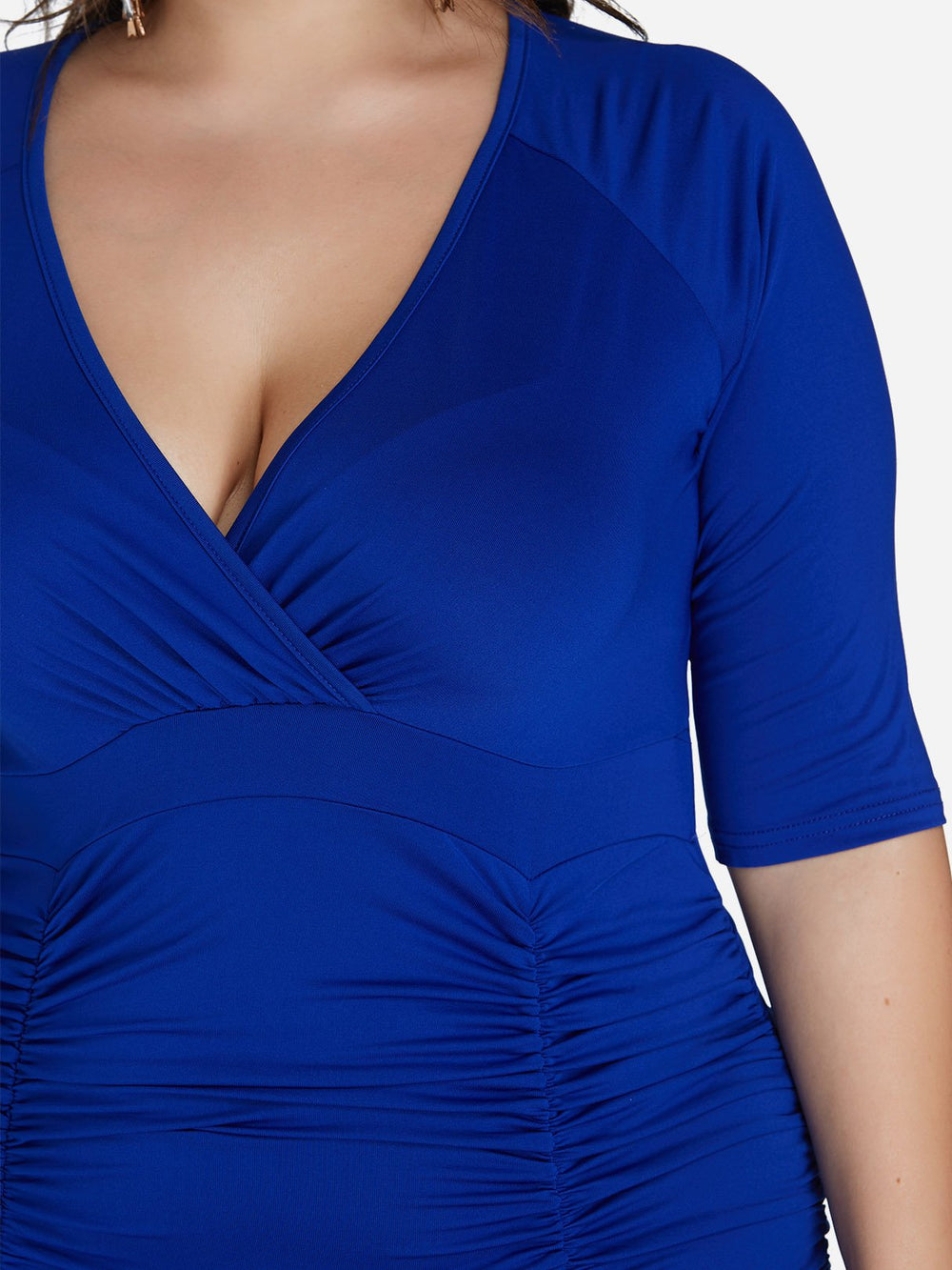 Ladies Half Sleeve Plus Size Dress