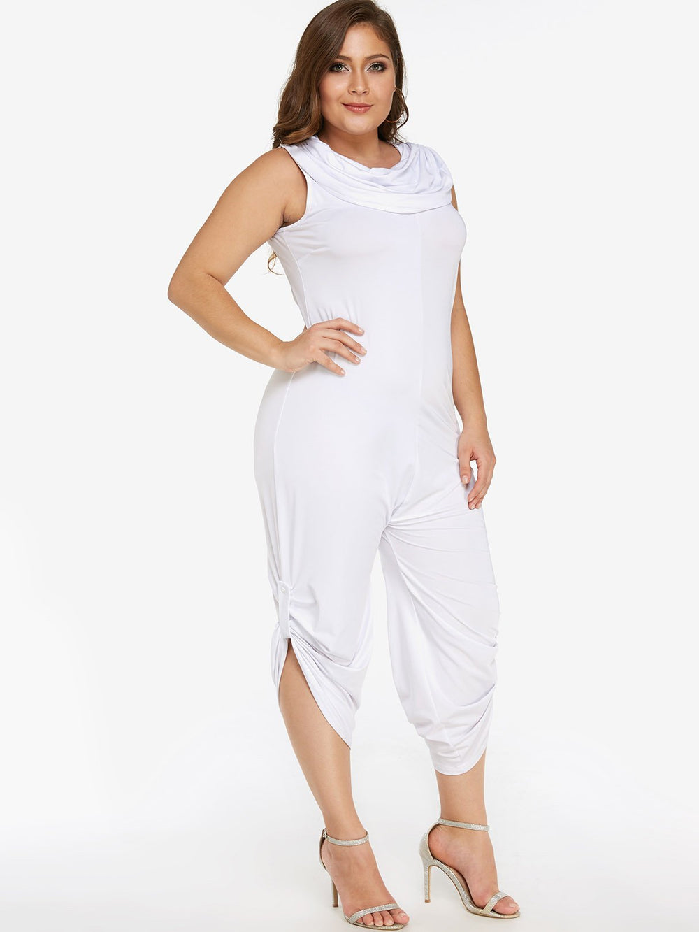 Womens White Plus Size Bottoms