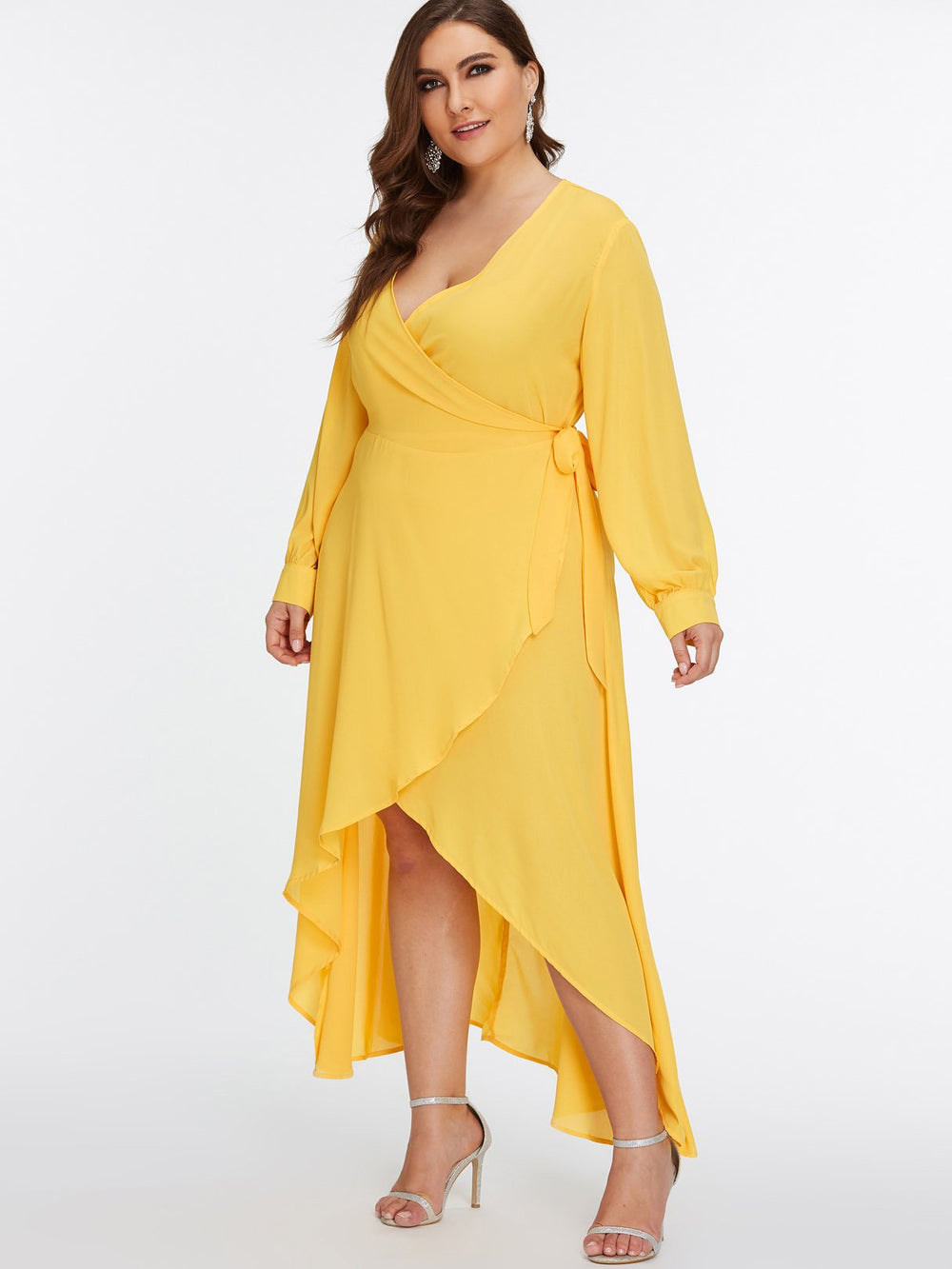 Ladies Yellow Plus Size Dresses