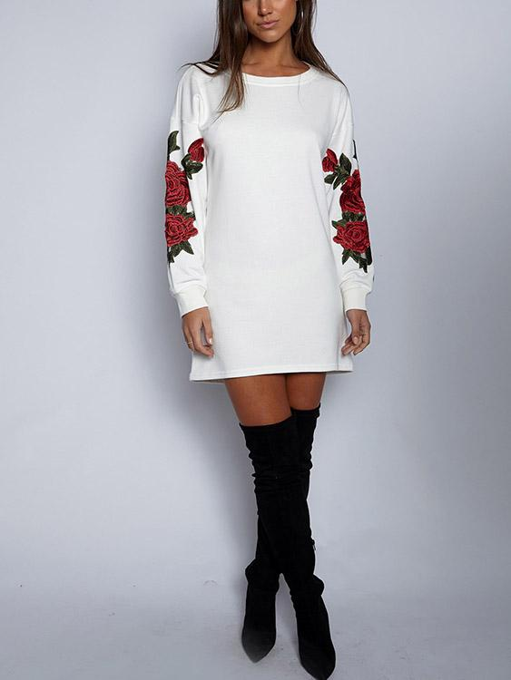 Ladies White Shirt Dresses