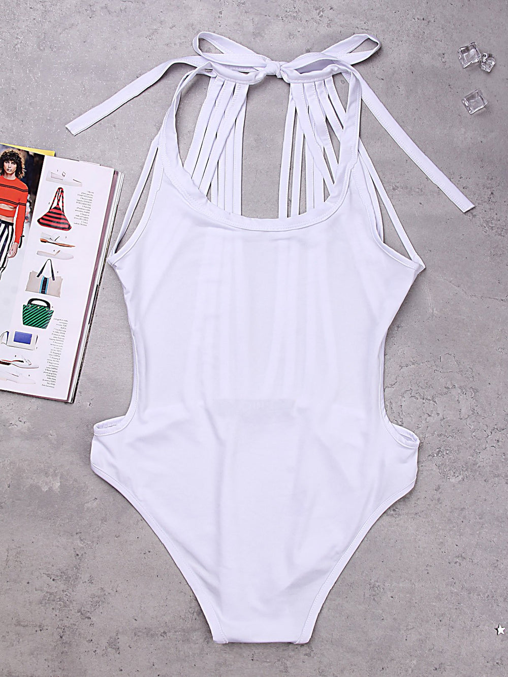 Halter Backless Sleeveless One-Pieces