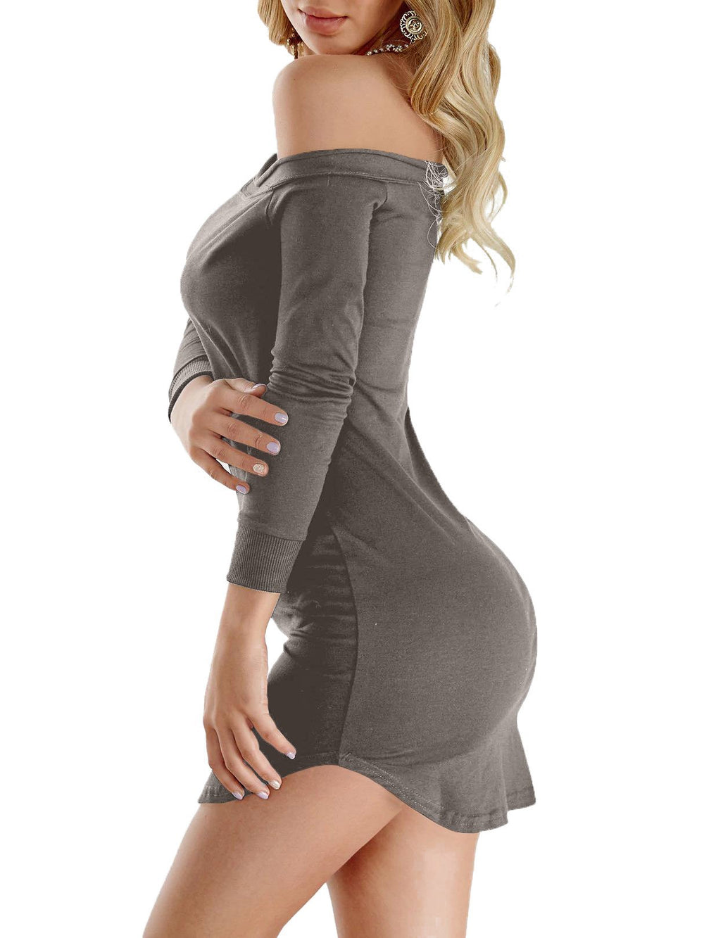 Ladies Grey Mini Dresses