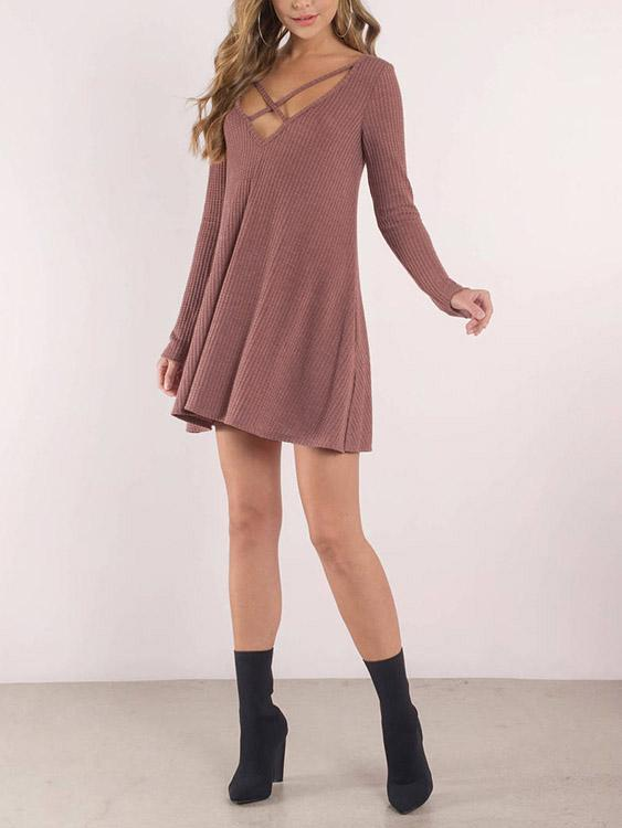 Ladies Rust Mini Dresses
