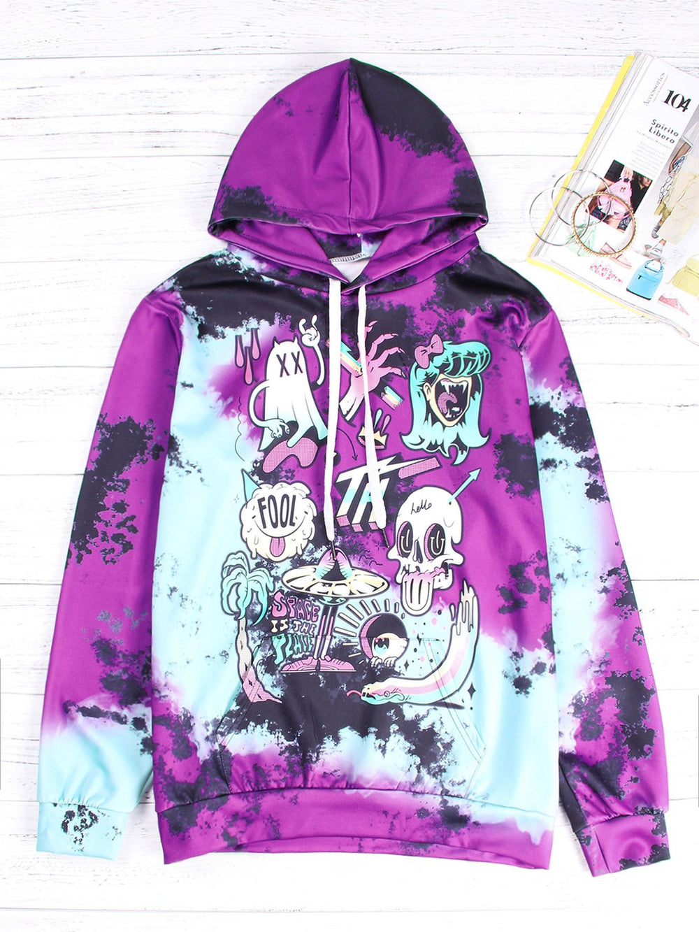 Ladies Purple Hoodies