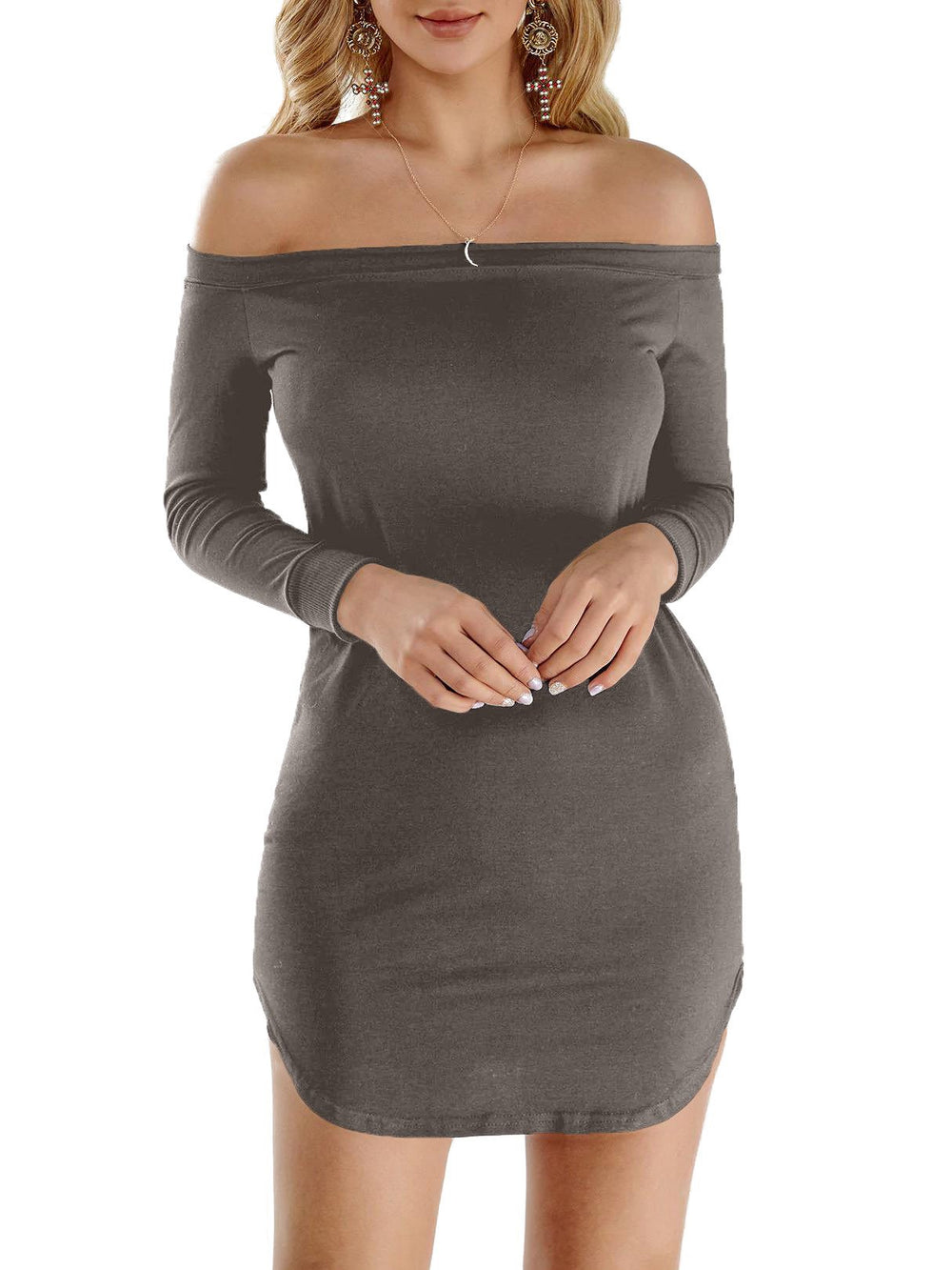 Ladies Long Sleeve Mini Dress