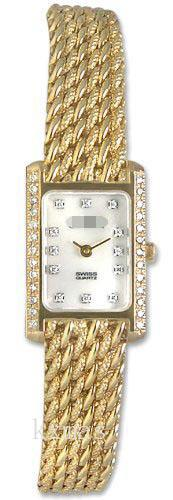 Wholesale Steel And 14Ct Gold Watch Band LS1400_K0029572