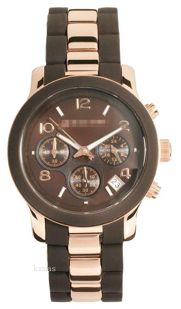 Shopping Online Wholesale Stainless Steel And Brown Silicone Watch Band MK5658_K0000319