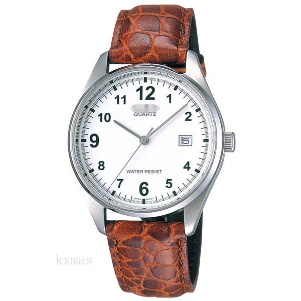 Unique Designer Leather Watch Strap MTP-1175E-7BJF_K0002004