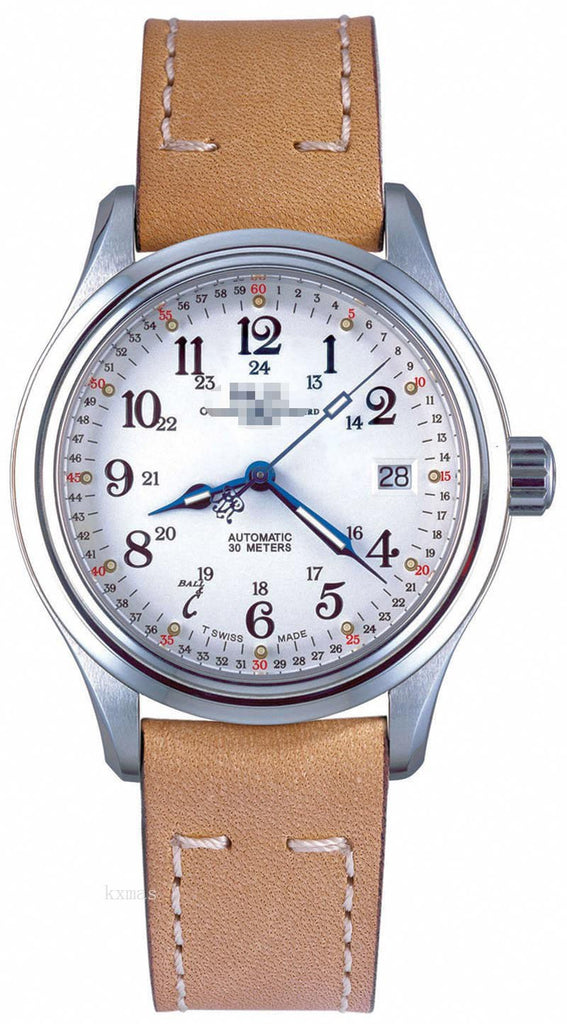 Inexpensive Durable Leather Watches Strap NL1038D-L1-WH_K0005484