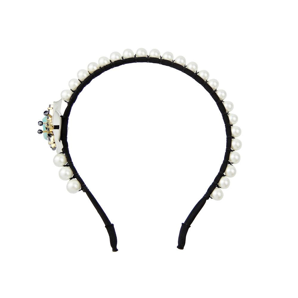 Handcrafted Pearl Gems Embellished Headband Roaring Twenties Jewelry
