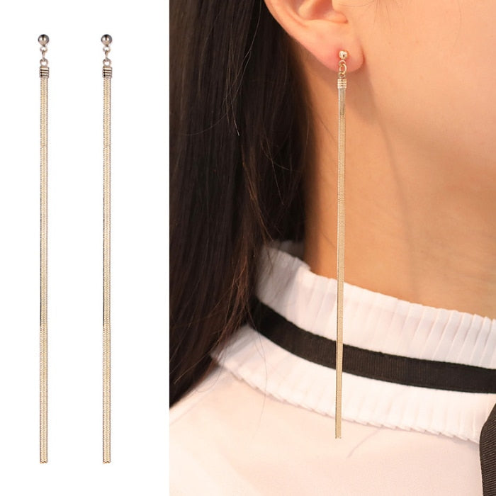 Long Chain Tassel Earrings Ear Drop Hypoallergenic Earrings Jewelry for Women Party Wedding