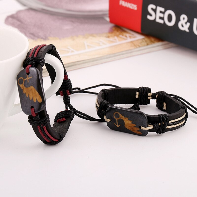 1 Pcs Women Men Bracelet Braid Vintage Jewelry Decoration Valentine's Day Gift