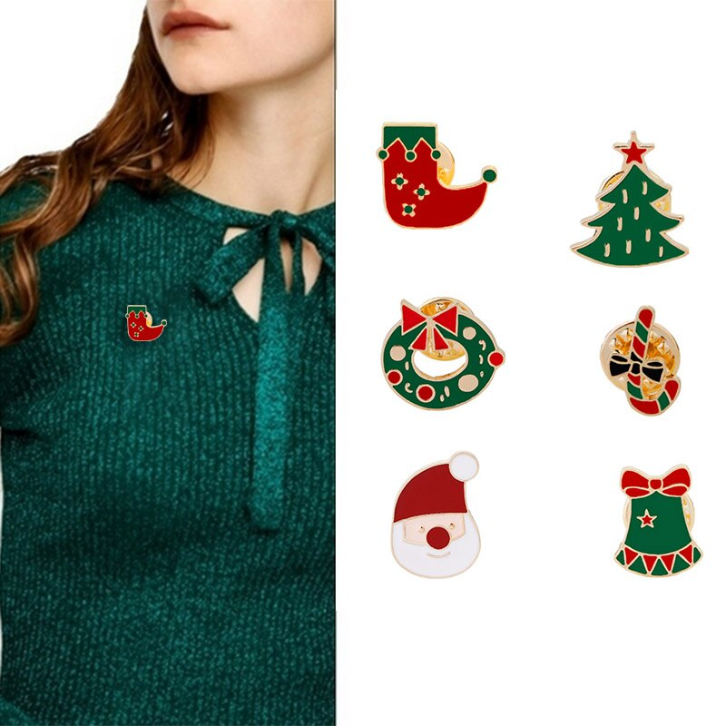 1 Pcs Corsage Brooch Pin Christmas Gift Decoration Accessories for Coat Dress Scarf