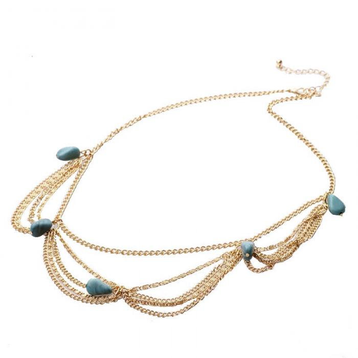 Handmade Hair-chain Hairband Bohemian Alloy Beads Hair Accessories