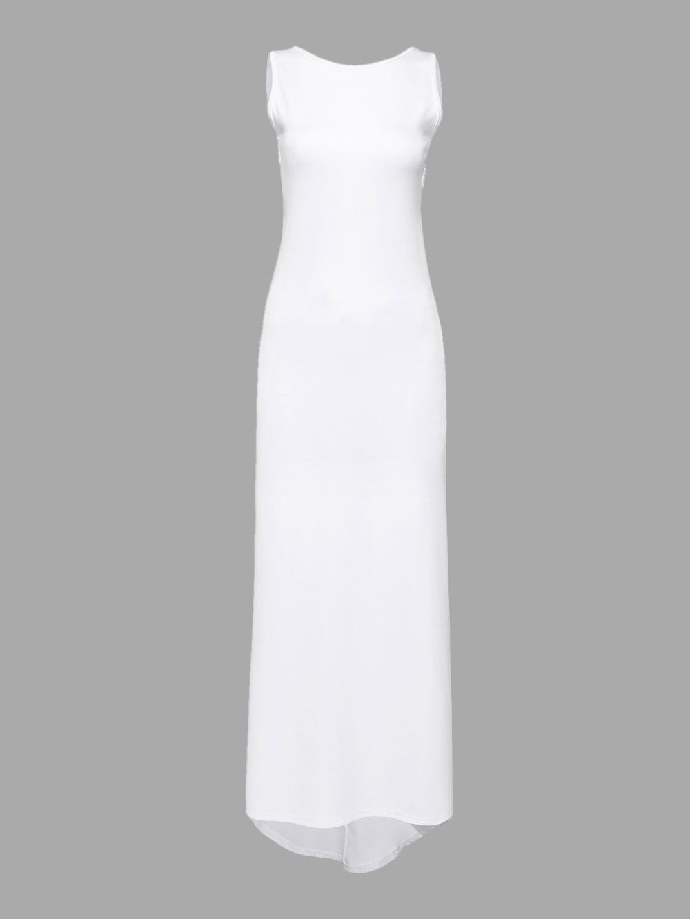 White Backless Maxi Dress