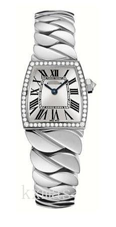 Funky 18K White Gold Twist Watch Band WE601005_K0000461