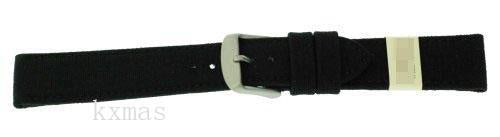 Wholesale Custom Canvas 16 mm Watch Strap ZC-16COR-BLACK-MOM_K0014521
