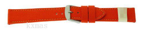 Wholesale OEM Canvas 16 mm Watch Strap ZC-16COR-ORANGE-MOM_K0014520