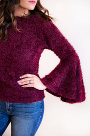 Simone Bell Sleeve Eyelash Sweater - Phoebe Jane