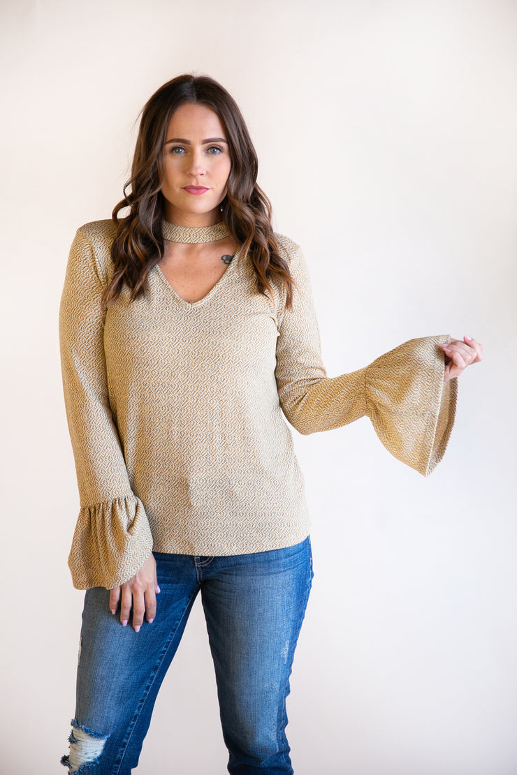 Hayley Textured Knit Top