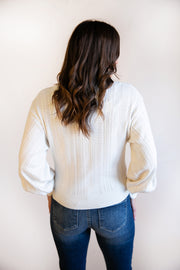Erica Puff Shoulder Sweater - Phoebe Jane