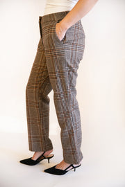 Paula Wool Plaid Pants - Phoebe Jane