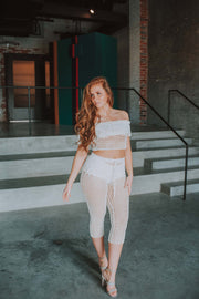 Crochet Pant In Ivory - Phoebe Jane