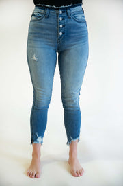 Lily Deconstructed Button Fly Jeans - Phoebe Jane