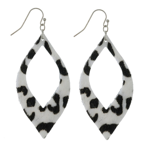 Faux Leather Cutout Animal Print Earrings - Phoebe Jane