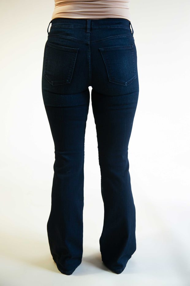 Ava Button Fly Boot Cut Jeans - Phoebe Jane