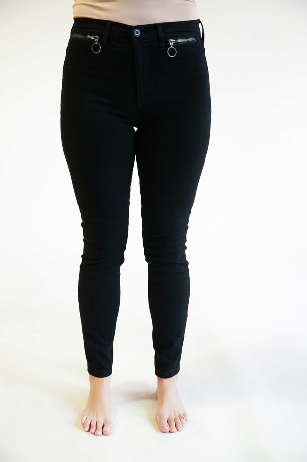 Layla High Rise Front Zippered Pocket Jeans - Phoebe Jane