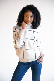 Dani Mock Neck Pull Over Sweater - Phoebe Jane