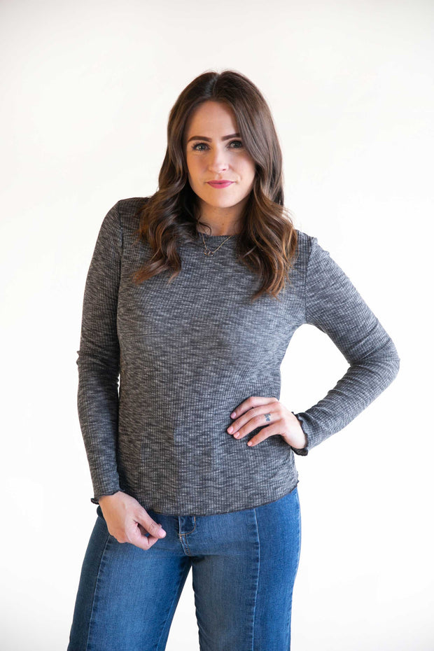 Nadine Lightwieght Ribbed Knit Shirt - Phoebe Jane