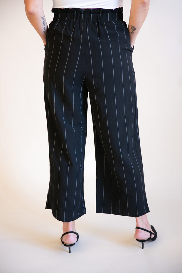 Emmie Striped Paper Bag Trousers - Phoebe Jane