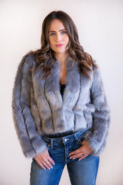 Flora Fur Jacket - Phoebe Jane