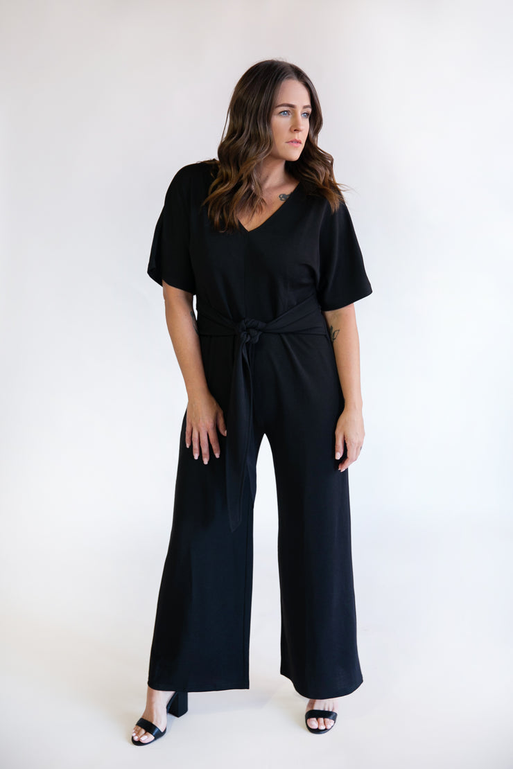 Margaret Wide Pant Jumpsuit - Phoebe Jane