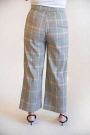 Morgan High Waist Plaid Pants - Phoebe Jane
