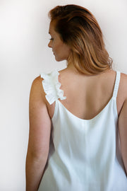 Adri Ruffle Shoulder Dress - Phoebe Jane
