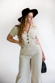 Mia Safari Jumpsuit - Phoebe Jane
